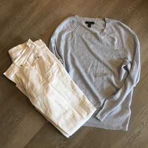 Jcrew light blue sparkle sweater